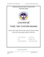 Hoàn thiện Kế toán bán hàng tại Công ty TNHH Phát triển Công nghệ Thông tin Việt Hàn (ko lý luận)