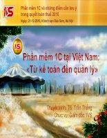 Phần mềm 1C tại Việt Nam: «Từ kế toán đến quản lý»