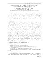 KHẢO SÁT ẢNH HƯỞNG CỦA MỘT SỐ YẾU TỐ CÔNG NGHỆ ĐẾN QUÁ TRÌNH LÊN MEN BIA NỒNG ĐỘ CAO