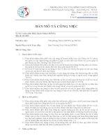 Bản mô tả công việc Vị trí: Giám đốc điều hành Nhóm MFWG