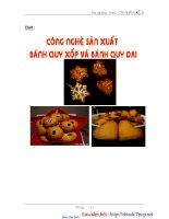 Công nghệ sản xuất bánh quy xốp và bánh quy dai