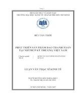 533 Phát triển sản phẩm bao thanh toán tại Ngân hàng thương mại cổ phần Kỹ Thương Việt Nam