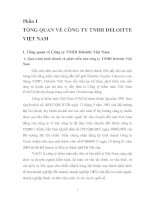 211 Kiểm toán chu trình tiền lương - nhân viên trong kiểm toán báo cáo tài chính do Công ty kiểm toán Deloitte Việt Nam thực hiện