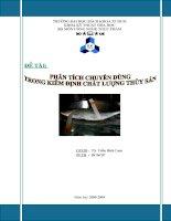 Phân tích chuyên dùng trong kiểm định chất lượng thủy sản