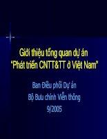 Giới thiệu tổng quan dự án phát triển công nghệ thông tin và truyền thông ở Việt Nam
