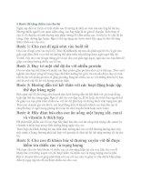 5 Bước để tăng chiều cao cho bé