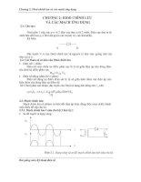 Diod chỉnh lưu và các mạch ứng dụng