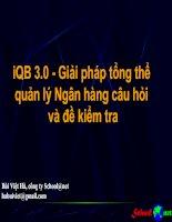 IQB3.0 Giaỉ pháp tổng thể quản lí Ngân hàng câu hỏi và đề kiểm tra