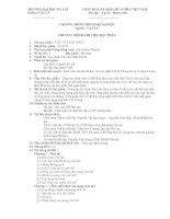 Chương trình học phần Chất rắn- Khoa vật lý Đại học Đà lạt