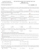 Đề thi thử đại học lần 1 vật lý