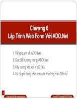 Chương 6: Lập trình web form với ADO.Net
