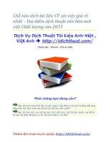 Chỗ nào dịch tài liệu CV xin việc giá rẻ nhất
