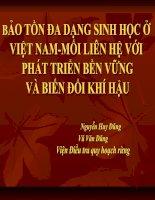 Thuyết trình về Bảo tồn đa dạng sinh học ở Việt Nam