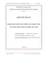 487 Những giải pháp phát triển thẻ thanh toán tại Ngân hàng Công thương Việt Nam