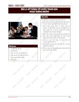 Kỹ năng tổ chức tham gia hoạt động nhóm
