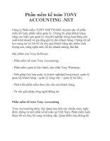 Phần mềm kế toán TONY ACCOUNTING .NET