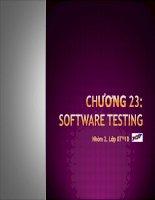 Mô tả quá trình kiểm thử phần mềm và giới thiệu những kĩ năng kiểm thử