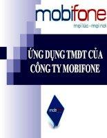 Ứng dụng thương mại điện tử của công ty Mobifone
