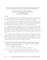 ĐÁNH GIÁ TÀI NGUYÊN KHÍ HẬU NÔNG NGHIỆP TRONG SỬ DỤNG, QUẢN LÝ ĐẤT ĐAI VÀ ỨNG DỤNG CHO CÂY NGÔ Ở HOÀI ĐỨC