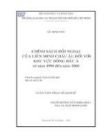 Chính sách đối ngoại của liên minh châu âu đối với khu vực Đông Bắc Á từ năm 1990 đến năm 2005