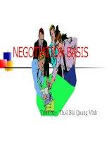 NEGOTIATION BASIS