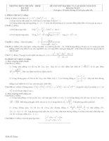 Đề thi thử đại học Toán 2010 Đề số 19