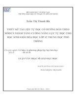 luận văn thạc sỹ giáo dục học Trần Thị Thanh Hà