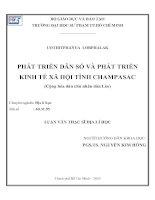 Phát triển dân số và phát triển kinh tế xã hội tỉnh Champasac