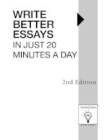 Write Better Essays in just 20 Mins a Day