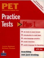 PET Practice Tests Plus 1