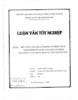69 Kế toán tài sản cố định và phân tích tình hình sử dụng tài sản cố định tại công ty cổ phần dịch vụ vận tải Sài Gòn