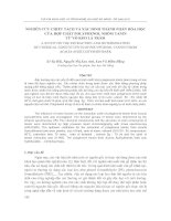 Nghiên cứu chiết tách và xác định thành phần hóa học của hợp chất Polyphenol nhóm Tanin