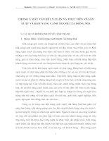 Chương I : Mấy vấn đề về lý luận và thực tiễn về sản xuất và khả năng cạnh tranh của mía đường
