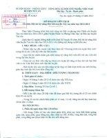Kế hoach tổ chức hội thi kĩ năng Đội viên huyện Tuy An  năm học 2012-2013