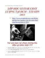 Đào tạo dạy ghita cá nhân 2013