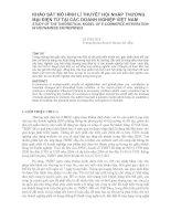 Khảo sát mô hình lí thuyết hội nhập thương mại điện tử tại các doanh nghiệp việt nam