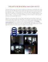 Phân phối và lắp đặt hệ thống camera giám sát từ xa