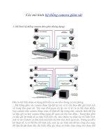 Các mô hình hệ thống camera giám sát