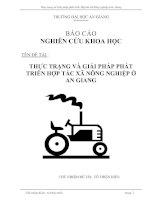 231 Thực trạng và giải pháp phát triển hợp tác xã nông nghiệp ở An Giang