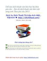 Chỗ nào dịch thuật văn bản học bạ theo yêu cầu