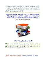 Chỗ nào dịch tài liệu Website nhanh nhất