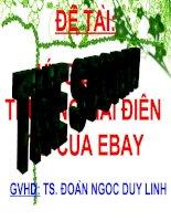 Ứng dụng thương mại điện tử của Ebay