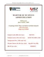 Luận văn thạc sĩ về thực trạng hoạt động sản xuất kinh doanh Công ty cô phần Lilanan 69-1