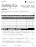 Giấy thông báo tình trạng sức  khỏe của cá nhân dành cho cơ sở  thương mại nhỏ/Small Business  Individual Health Statement  Application