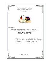 TĂNG TRƯỞNG KINH TẾ CỦA TRUNG QUỐC