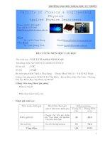 Đề cương môn vật lý môn plasma nâng cao