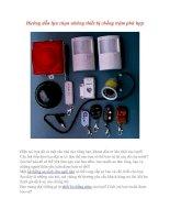 Hướng dẫn lựa chọn những thiết bị chống trộm phù hợp
