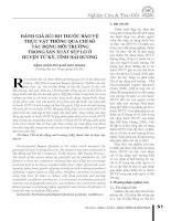 Đánh Giá Rủi Ro Thuốc Bảo Vệ Thực Vật Thông Qua Chỉ Số Tác Động Môi Trường Trong Sản Xuất Súp Lơ ở Huyện Tứ Kỳ, Tỉnh Hải Dương