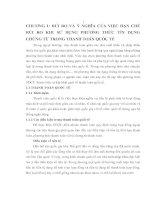 169 Giải pháp hạn chế rủi ro trong phương thức tín dụng chứng từ tại Ngân hàng Thương mại cổ phần Á Châu
