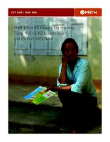 Phát triển Kế hoạch Thị trường  Tổng thể về Kế hoạch hóa  Gia đình ở Việt Nam